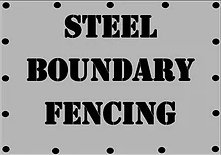 Steel Boundary Fencing