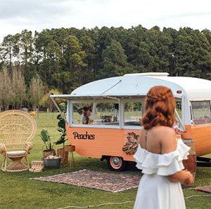 Peaches Vintage Caravan Bar